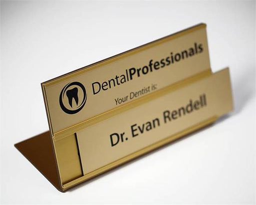 Professional Medical Double Insert Desk Sign