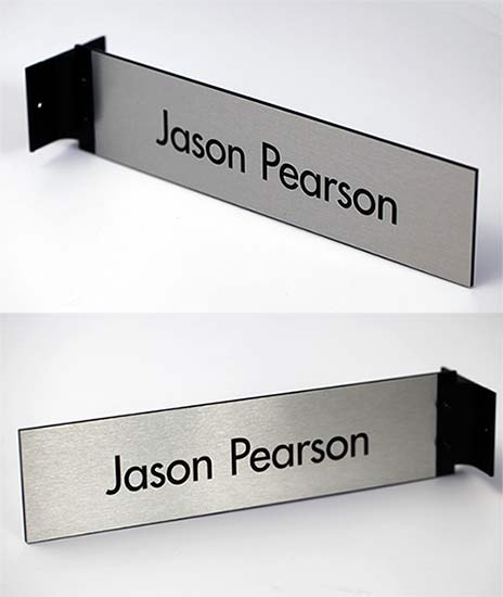 Two-Sided Metal Corridor Flag Signs