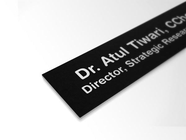 Medical Acrylic Insert Replacement Nameplates