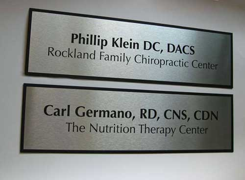Door nameplates for doctors, nurses & health care - waiting room signs