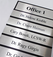 Changeable Office Signs & Name Plates