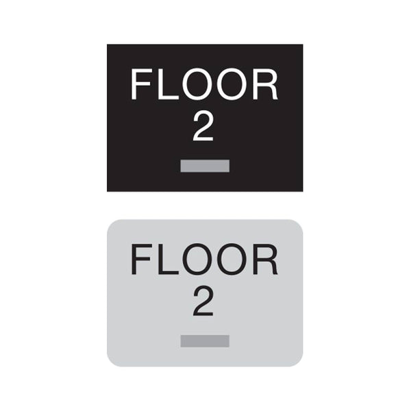 Americans with Disabilities Act (ADA) Braille Floor Number Signs