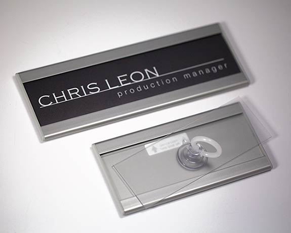 Changeable Insert Signs with Clear Lens