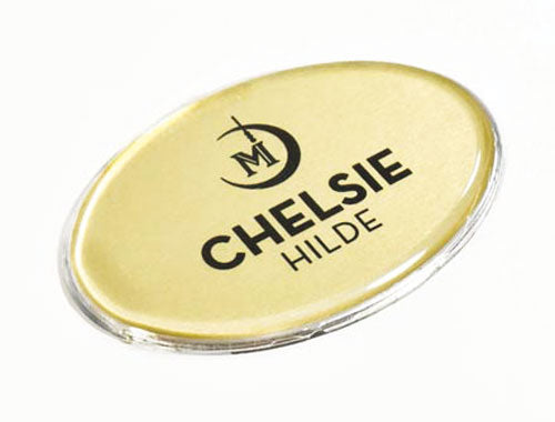 Oval Name Tag
