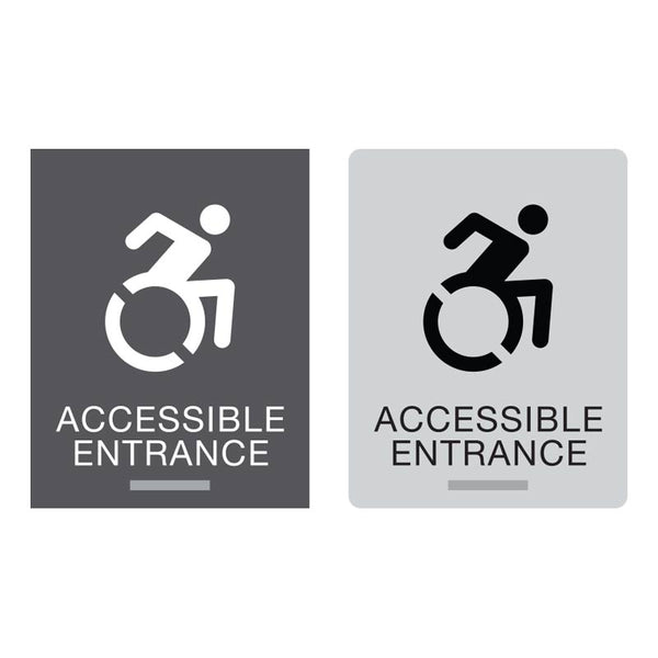 New York ADA Braille Accessible Entrance Signs