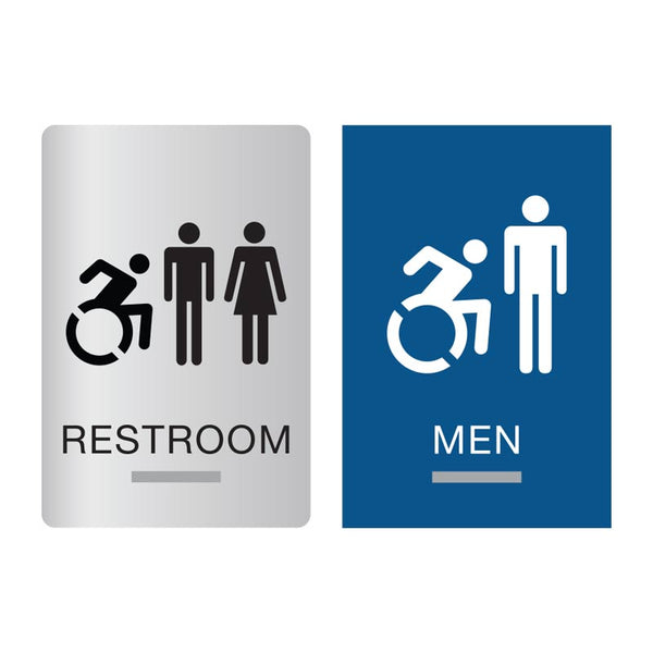 New York ADA Braille Restroom Signs