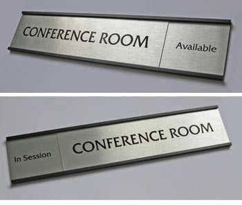 Occupied In Session Sliding Door Signs