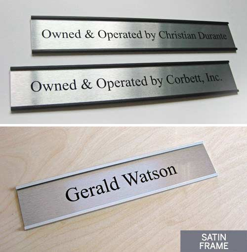 Medical Name Paltes and Doctors Door Signs
