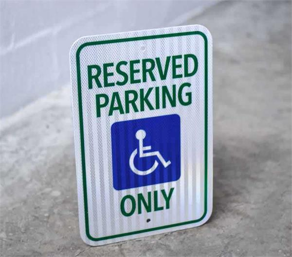 Reserved Handicap Parking Sign