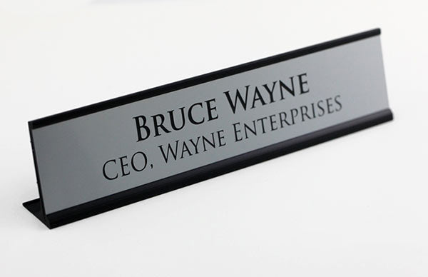 Engraved Custom Desktop Signs