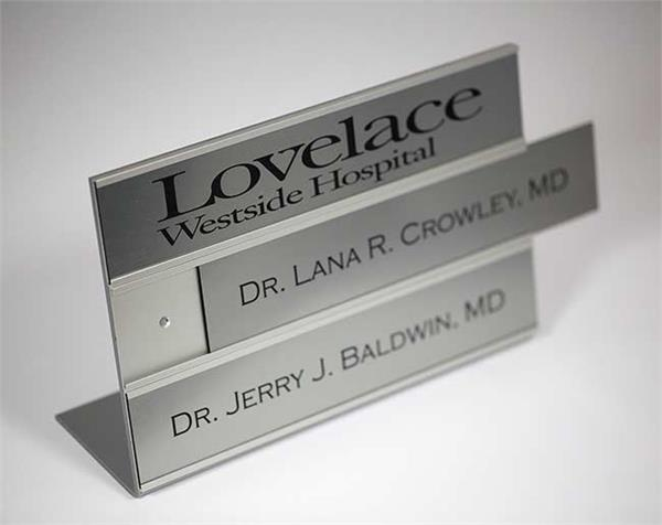 Triple Interchangeable Medical Office Desk Sign