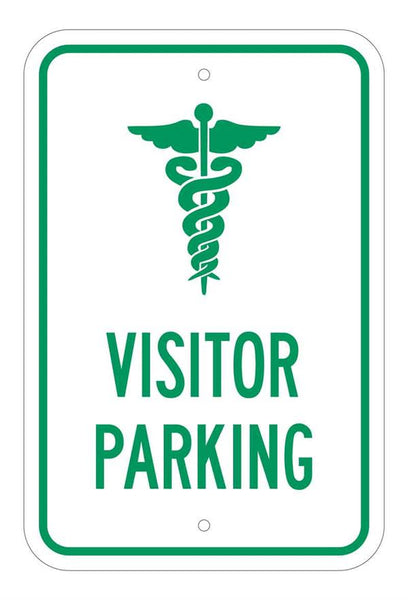 Exterior Grade Visitor Parking Signs