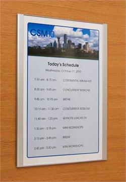 Metal Interchangeable Room Schedule Sign