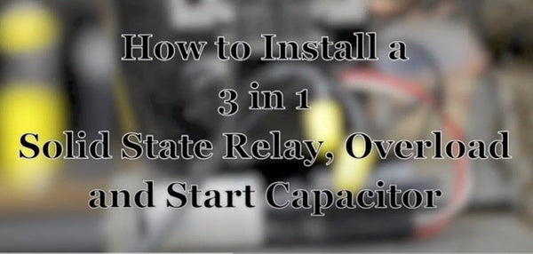 How to install a 3 in 1 on a vending machine refrigeration compressor