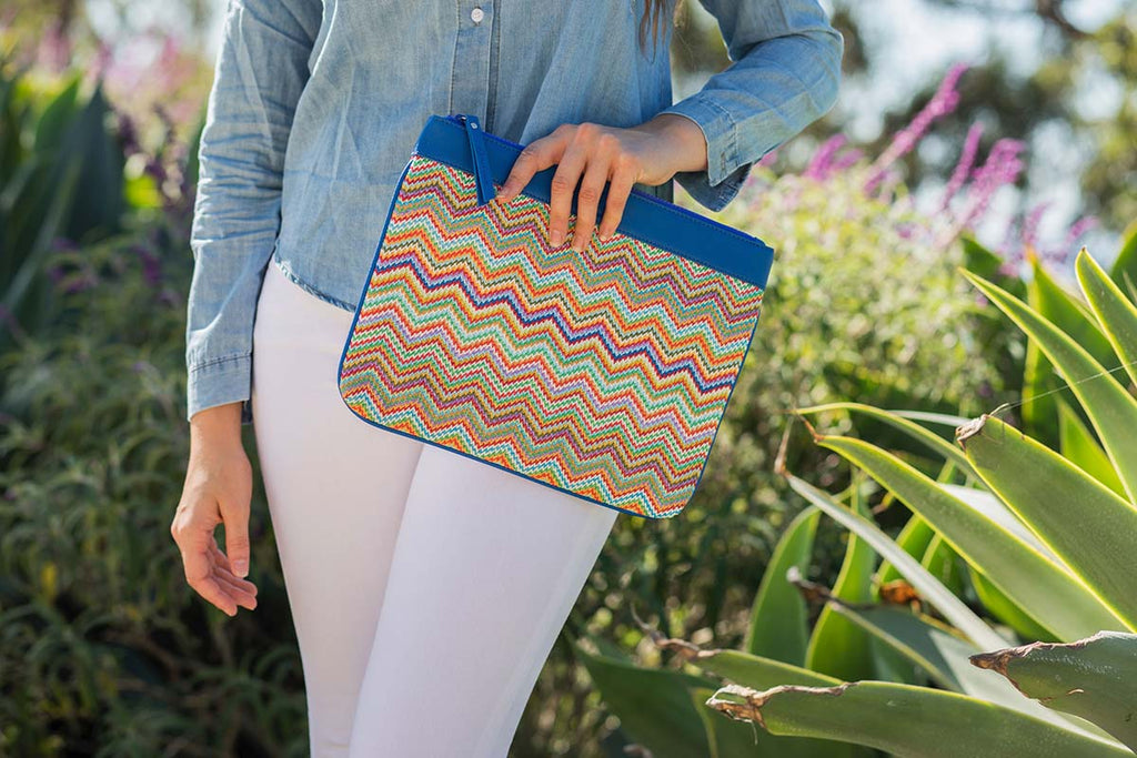 multicolour beach pouch