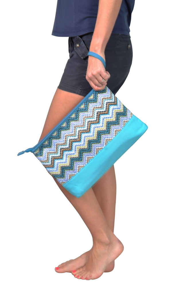 cosmetic bag with water-resistant lining