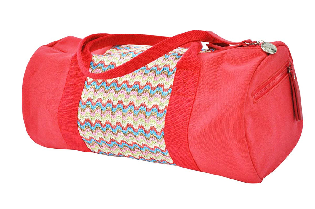 raspberry pink canvas gym bag