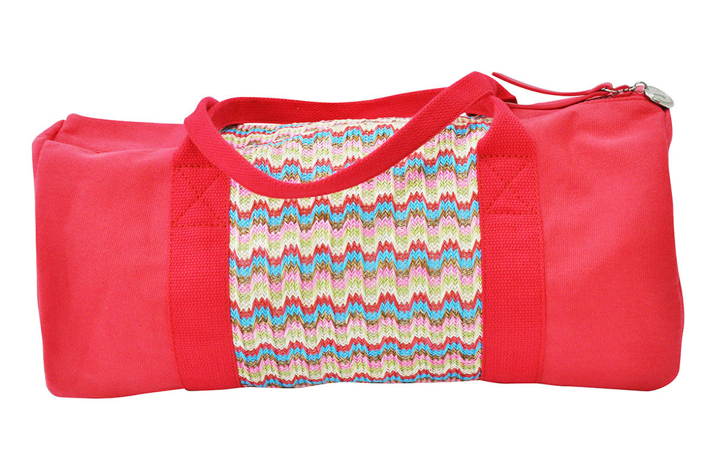 gym bag made of nylon and cotton canvas