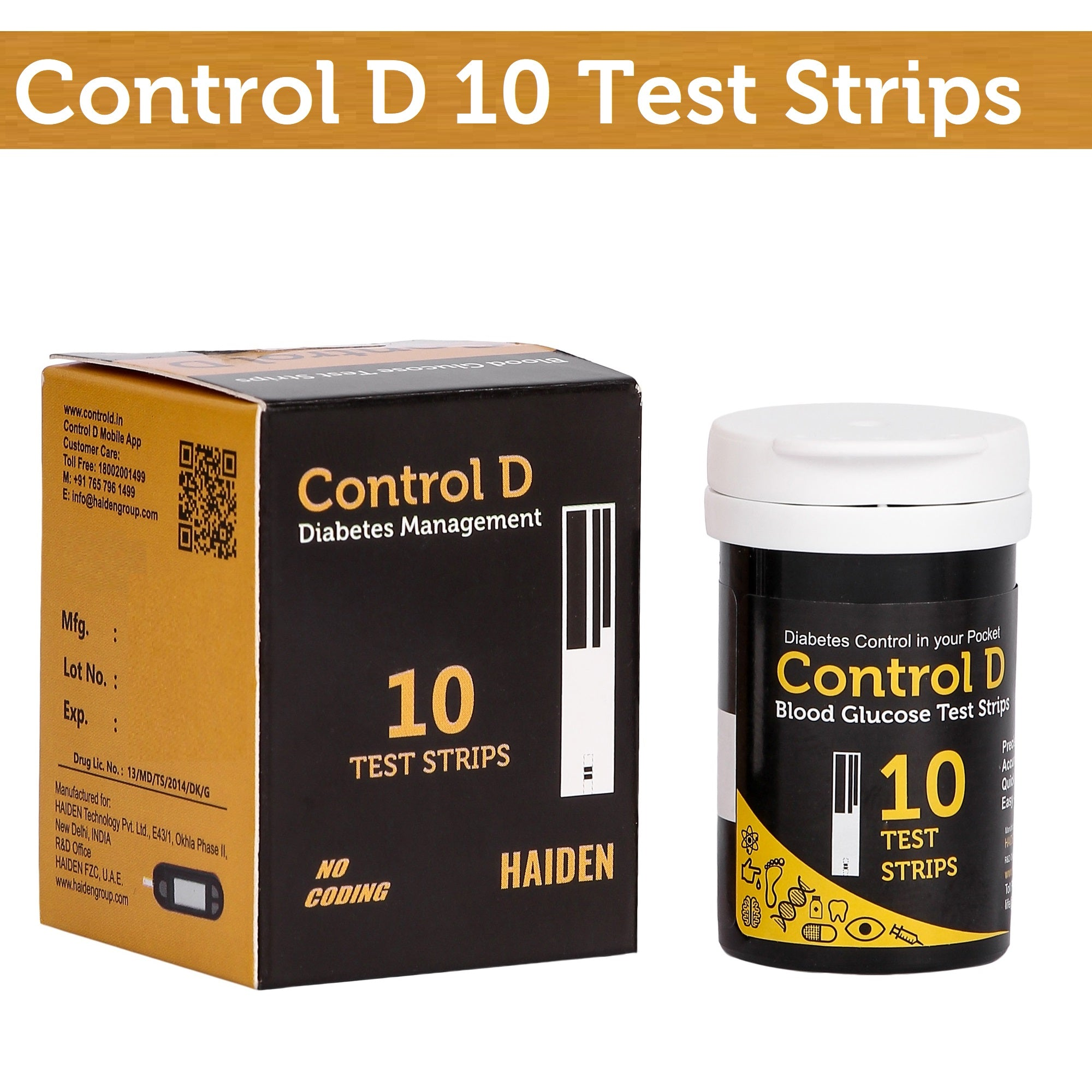 Control D 10 Test Strips