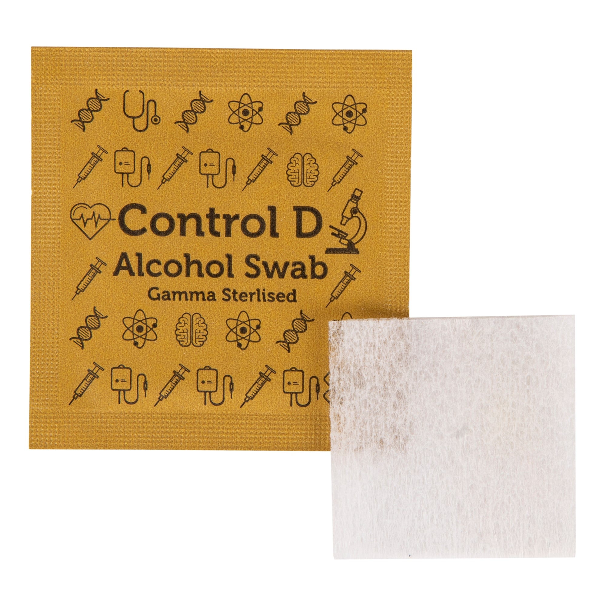 Control D 100 Alcohol Swabs