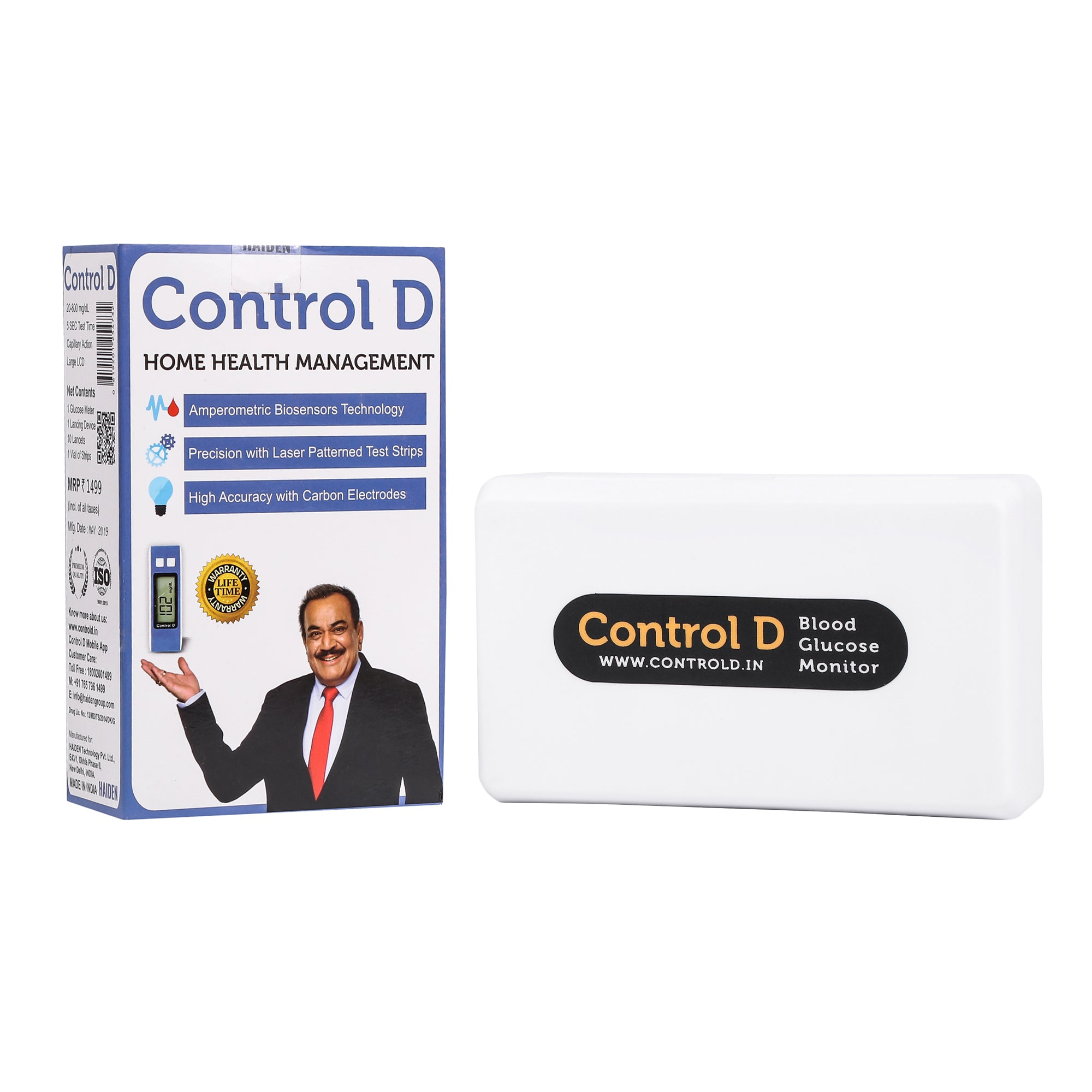 Control D Blue Meter Kit with 25 Strips