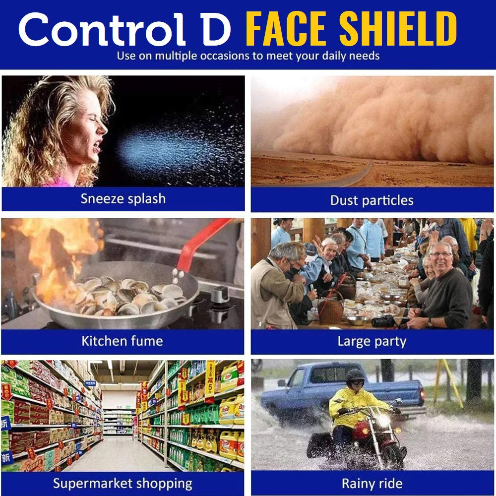 Control D Face Shield - Pack of 3