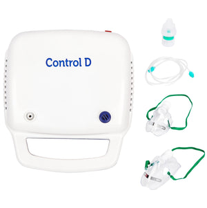 Control D Compressor Complete Kit with Child and Adult Masks Blue & White Nebulizer