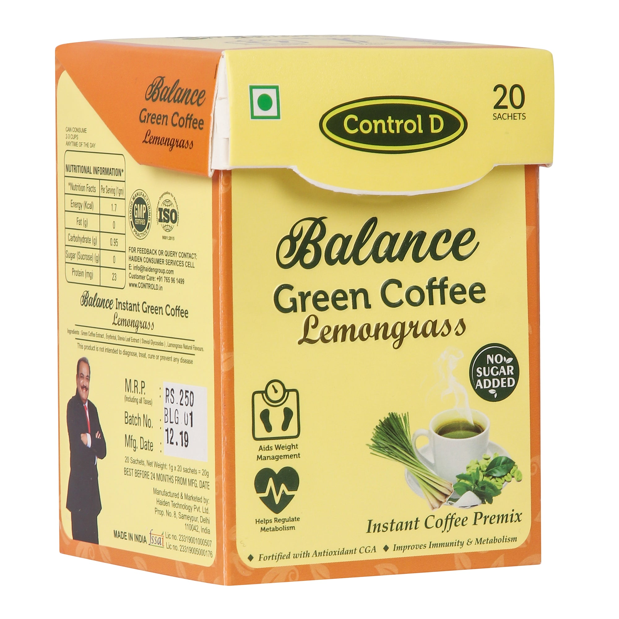 Balance Lemongrass Green Coffee