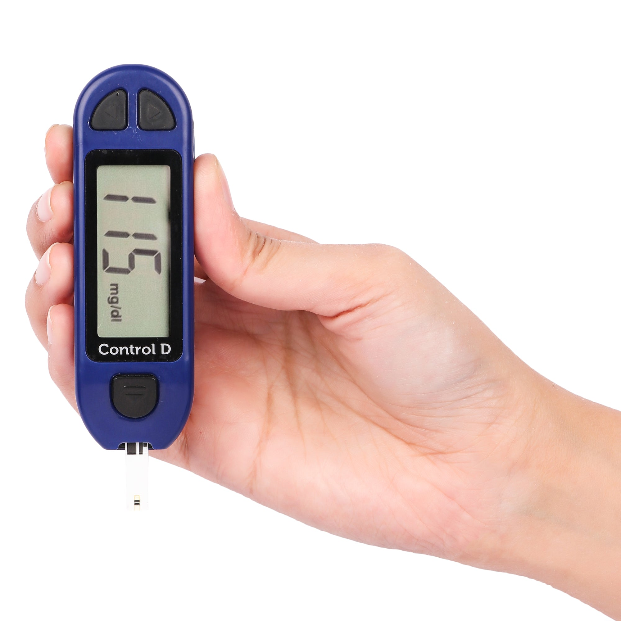 Control D Blue Digital Glucose Blood Sugar testing Monitor Machine