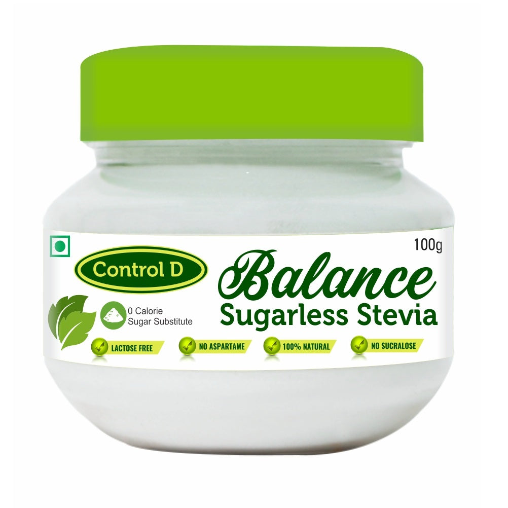 Control D Balance Zero Calorie Natural Diabetic, Keto & Health friendly Sugar Free Sugar Less Sweetener Stevia Sweetener