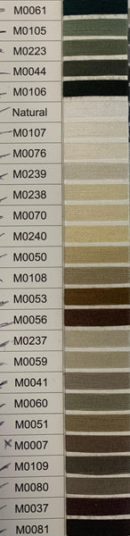 Moon Polyester 1000YRD -  CODE M0001 - M0203 + WHITE/BLACK/NATURAL - Panicos-Stockton