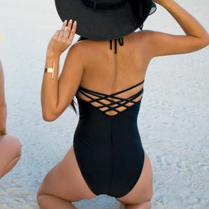 One Piece Black W/ Stripes