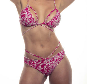 Latin Pink Bikini back scrunch bottom