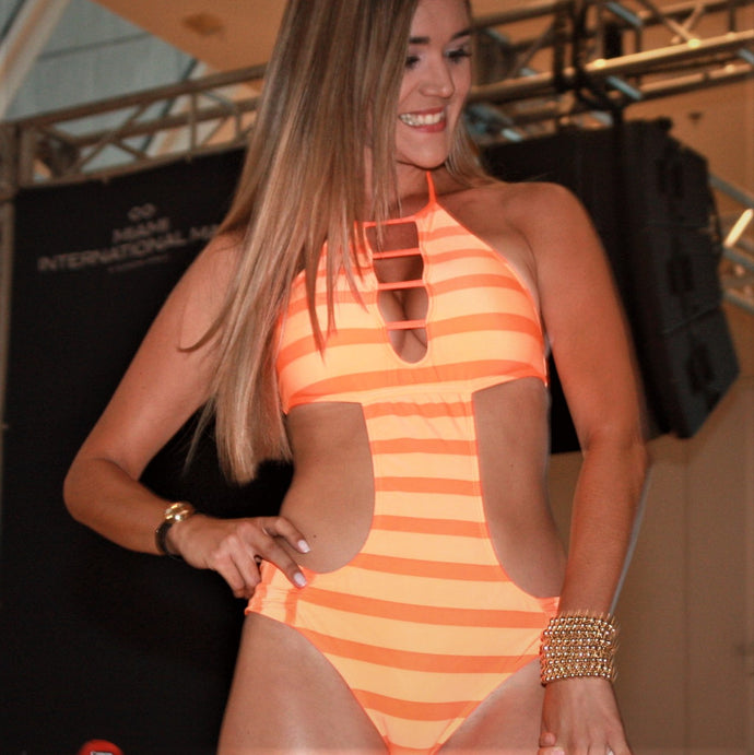 Orange Neon Trikini Stairs