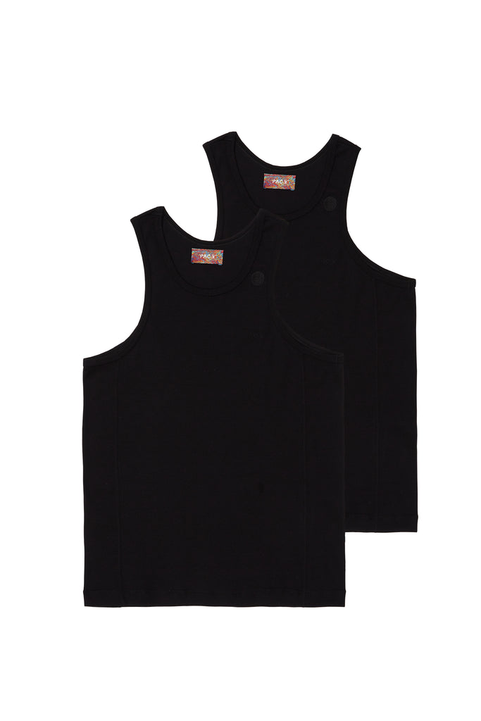 PACK 2 TANK TOP RIB BASIC BLACK