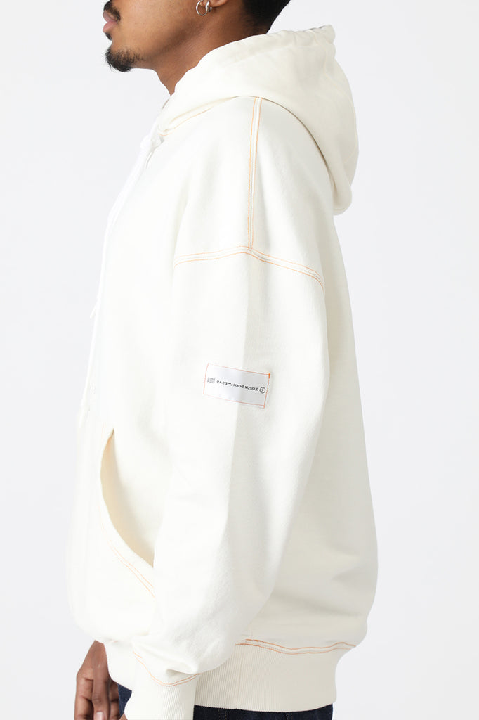 HOODIE COLORED SEAMS PACEXRM OFF WHITE