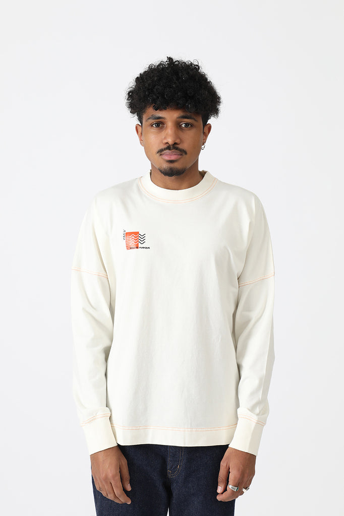 LONGSLEEVE COLORED SEAMS PACEXRM OFF WHITE