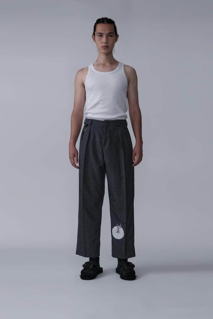 TAMEMASA WIDE TROUSERS GREY