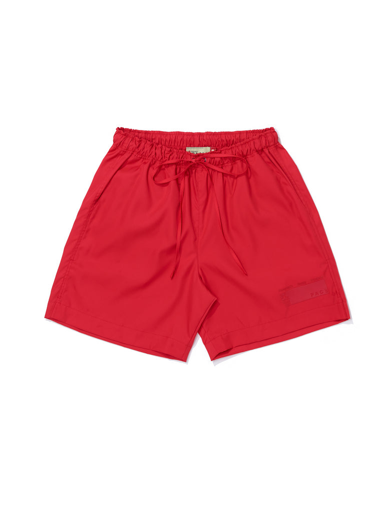 NYLON-SHORTS RED