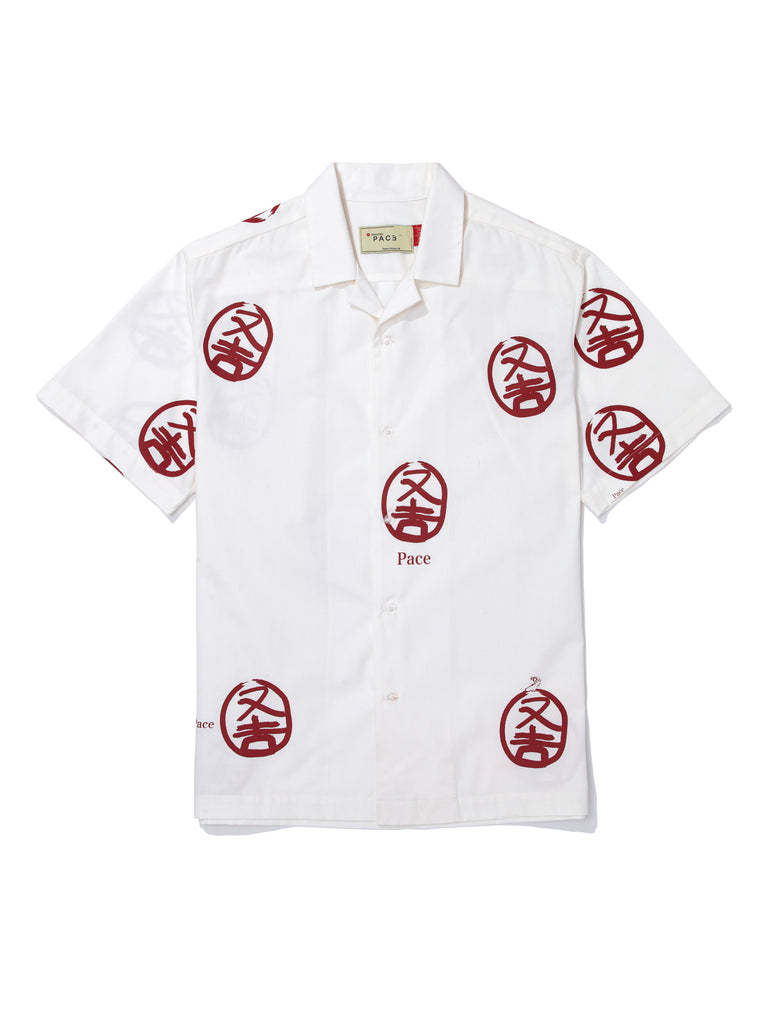 CAMP SHIRT KINGDOM CLOUDS HANKO STAMP