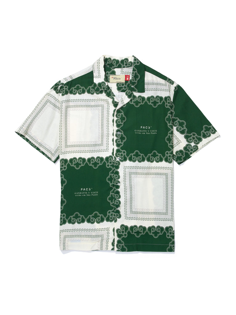 CAMP SHIRT KINGDOM CLOUDS GREEN