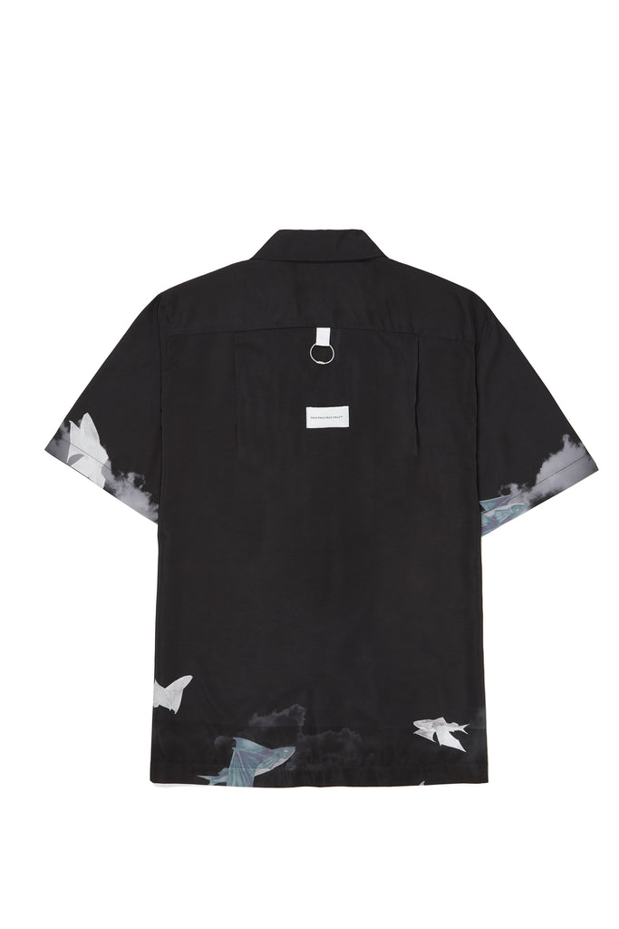 CAMP SHIRT FLYING FISH BLACK
