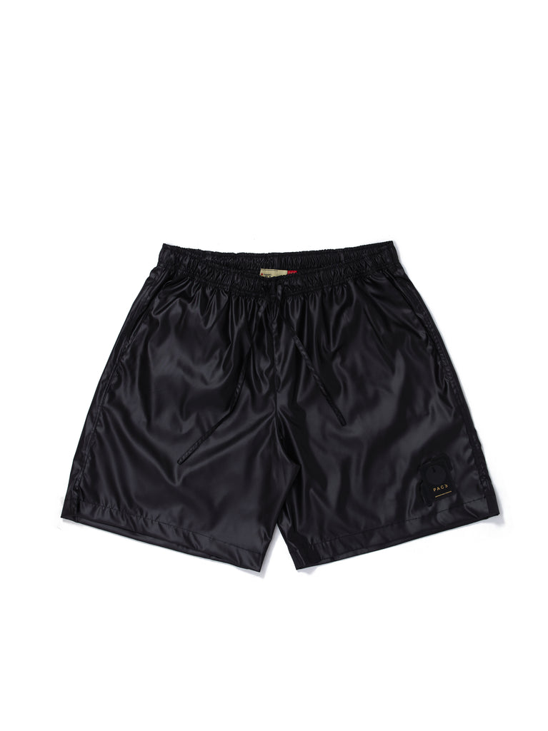 NYLON-SHORTS SHINE BLACK