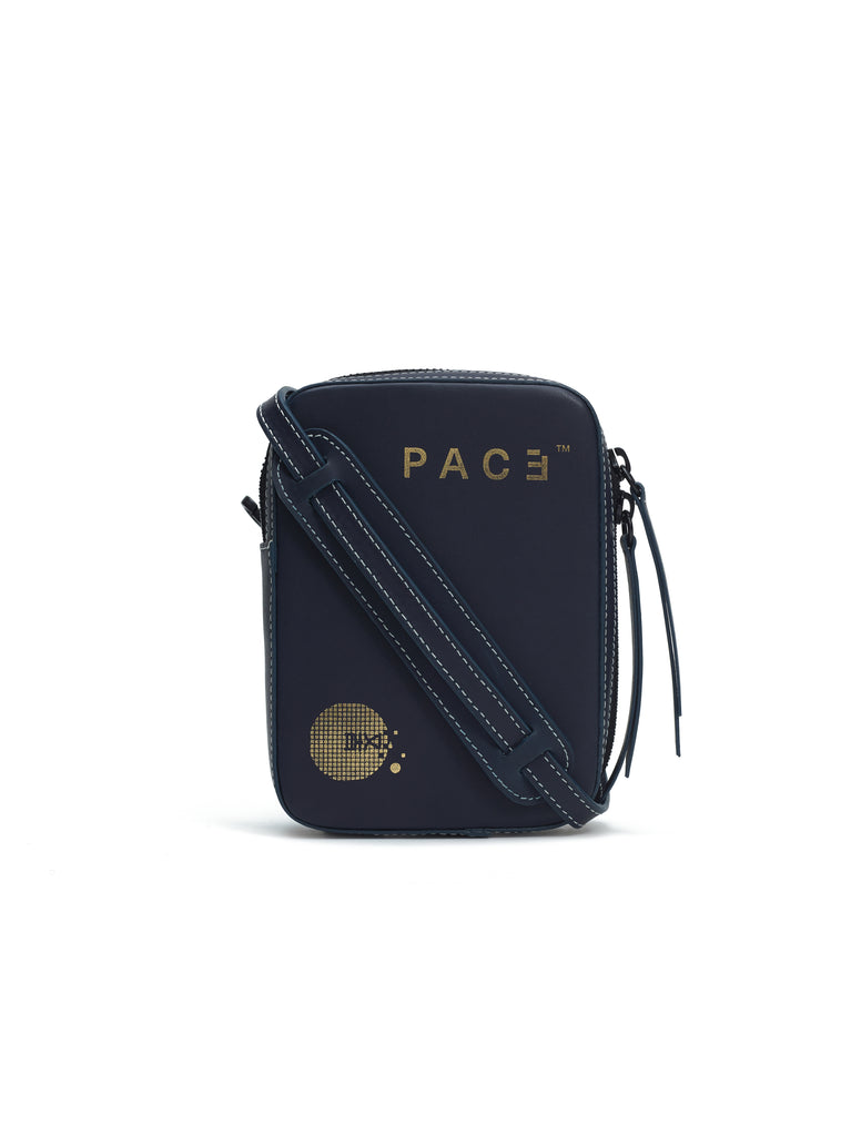2W TRUNK LEATHER BAG NAVY