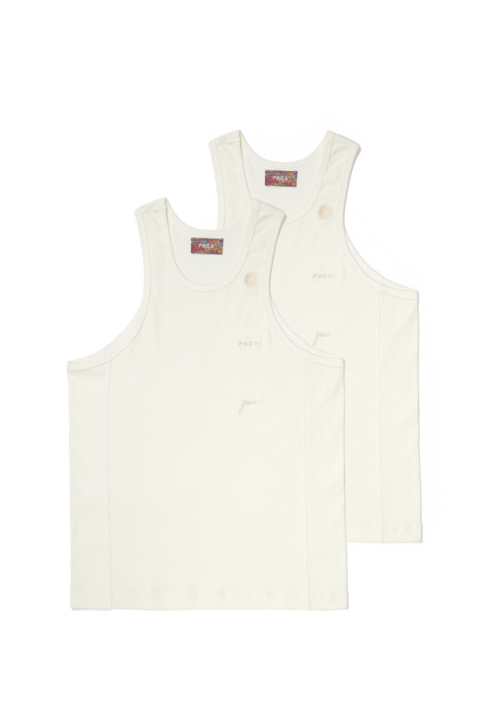 PACK 2 TANK TOP RIB BASIC OFF WHITE