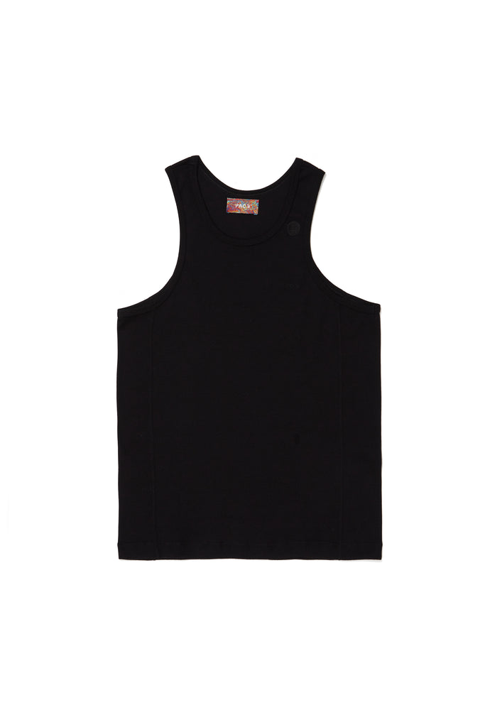TANK TOP RIB BASIC BLACK