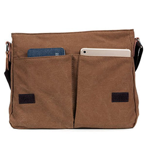 "Messenger Bag,LOSMILE Mens Canvas Shoulder Bag Crossbody Bag, 13.3"" laptop bags. (Brown)"