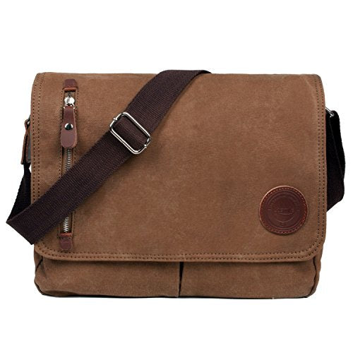 Messenger Bag,LOSMILE Mens Canvas Shoulder Bag Crossbody Bag, 13.3