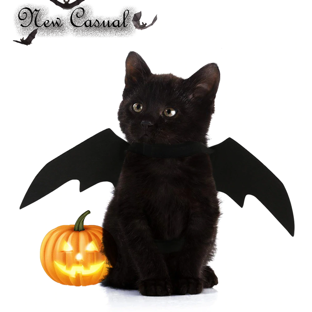 cat bat wing clothes cat halloween costumes for cat puppy dogs - new