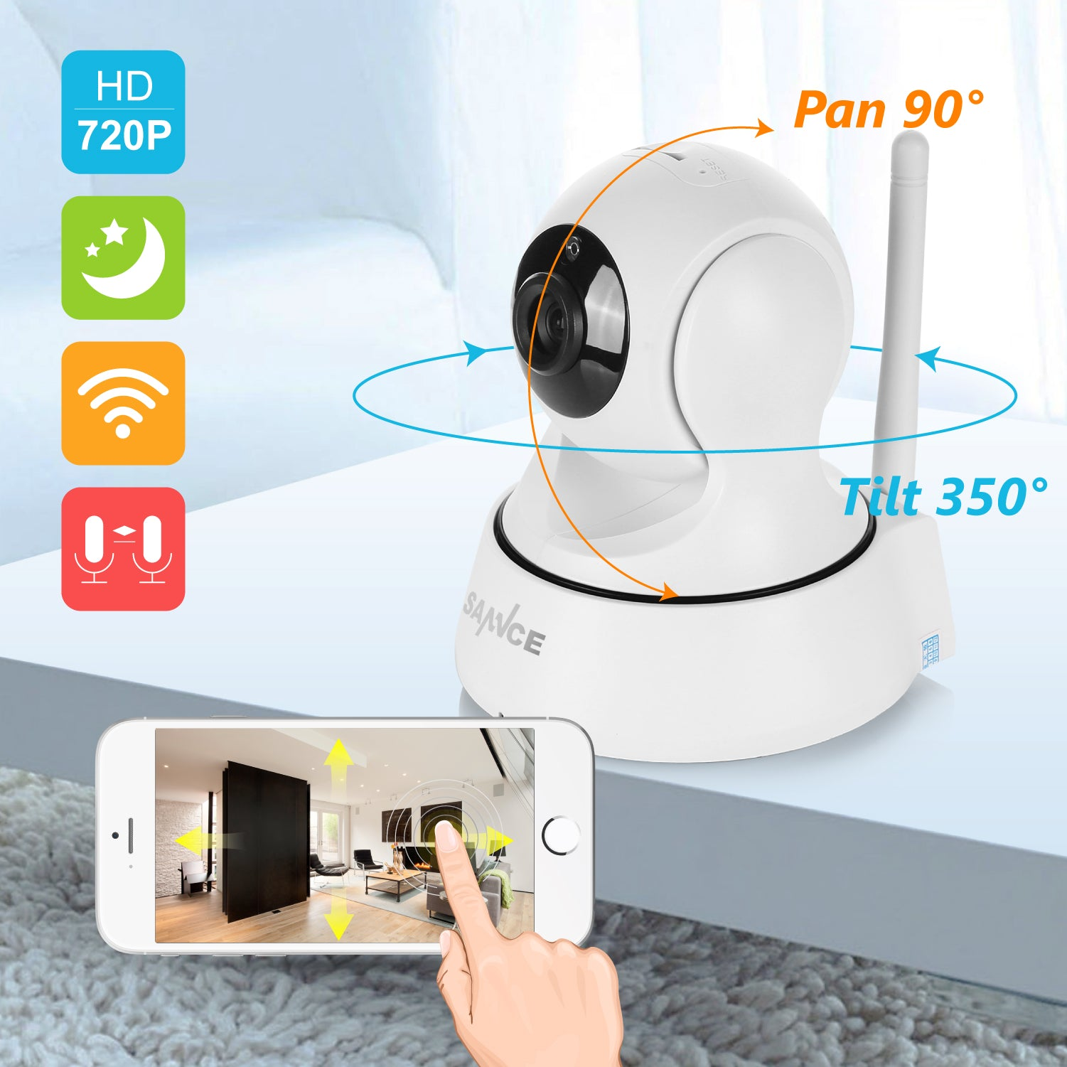 Home Security IP Camera Wireless WiFi Camera Surveillance 720P Night Vision Lot